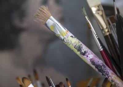handbeschilderd behang © www.paulinejoosten.nl